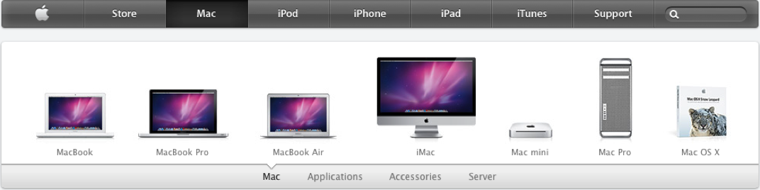 Apple Homepage neu