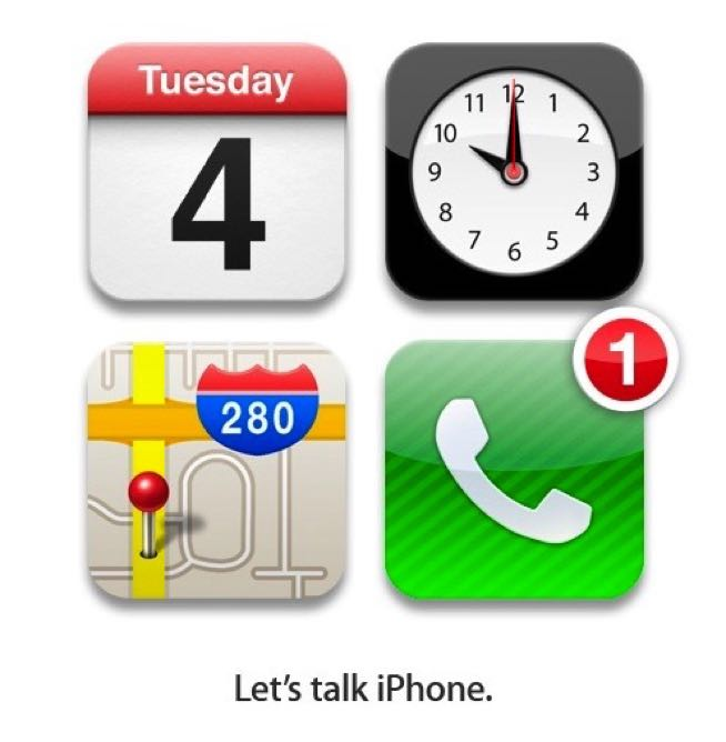 Lets talk iPhone Apple Event Einladung