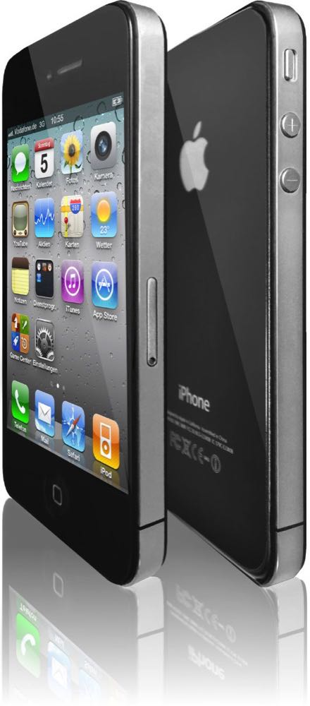 iPhone 4 Front Back Schwarz