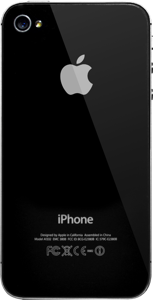 iPhone 4S Back Schwarz