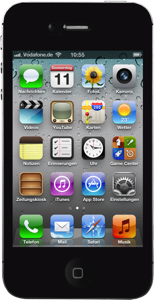 iPhone 4S front Schwarz