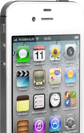 iPhone 4S seitlich screen
